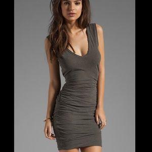 James Perse Double V Stretchy Dress Sz Medium
